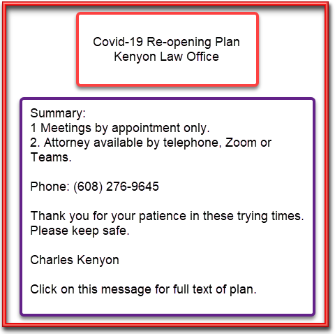 OWI drunk driving criminal defense attorney Covid-19 re-opening plan