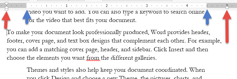 how to add different margins in word document